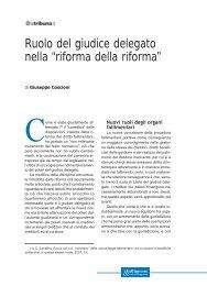 """Ruolo del giudice delegato nella """"riforma della riforma"""" - La Tribuna"""