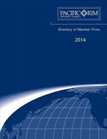 Member Directory (PDF) - Pacific Rim Advisory Council (PRAC)