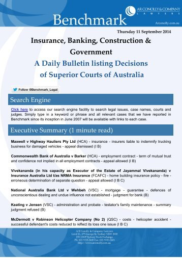 benchmark_11-09-2014_insurance_banking_construction_government