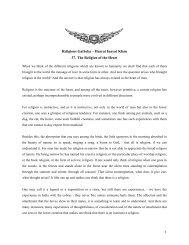 1 Religious Gatheka – Hazrat Inayat Khan 37. The Religion of the ...