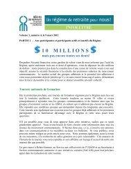 Mars 2012 – Parties 1 et 2 - Régime de retraite des groupes ...