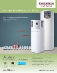 Accelera 300 Heat Pump Water Heater Brochure - Stiebel Eltron
