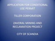 December 4, 2012 Applicant Presentation - City of Scandia, Minnesota