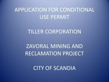 December 4, 2012 Applicant Presentation - City of Scandia, Minnesota