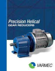 Varmec Precision Helical Gear Reducers Catalog - McGuire Bearing ...
