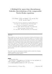 h-Multigrid for space-time discontinuous Galerkin discretizations of ...
