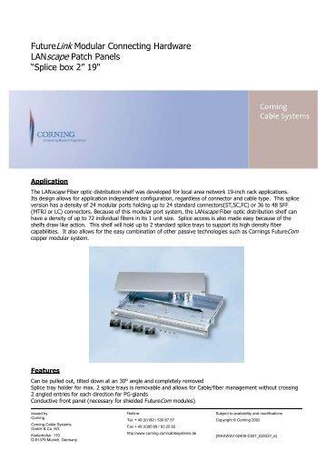FutureLink Modular Connecting Hardware LANscape Patch Panels ...