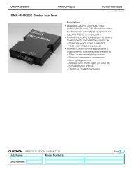 OMX-CI-RS232 Control Interface - Lutron