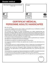 CERTIFICAT MÉDICAL PERSONNE ADULTE HANDICAPÉE