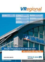 Ausgabe 1 - Juni 2010 - VR-Bank Aalen eG