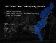 I-95 Corridor Crash Data Reporting Methods - I-95 Corridor Coalition