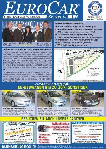 EU-NEUWAGEN BIS ZU 30% GÜNSTIGER - Eurocar Landshut