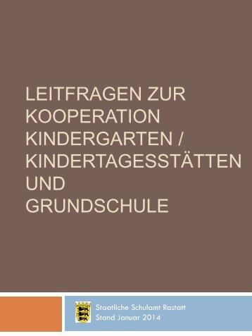 Leitfragen zur Kooperation Kindergarten