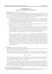 Übung 2.3 - Astrophysik an der Universität Potsdam