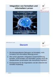 Integration von formellem und informellem Lernen - SSRE2013