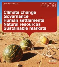 Climate change Governance Human settlements Natural ... - iied.org