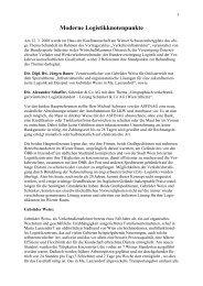 Moderne Logistikknotenpunkte - Wirtschaftskammer Österreich