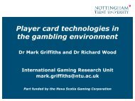 Player card technologies in the gambling environment