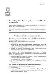 Sammandrag från kommunstyrelsens sammanträde den 28 augusti ...