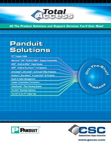 CSC Hot Product Guide - Communications Supply Corporation