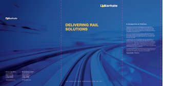 DELIVERING RAIL SOLUTIONS - Barhale