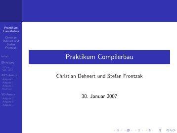 Praktikum Compilerbau - Stce.rwth-aachen.de