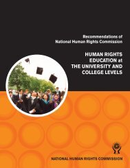 Human Rights Education at the Universities & College Levels. - BHRC