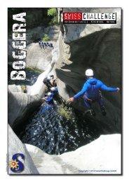 Flyer Canyoning Boggera - SwissChallenge GmbH