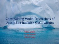Constraining Model Predictions of Arctic Sea Ice With Observations