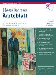 Hessisches Ärzteblatt April 2012 - Landesärztekammer Hessen