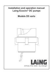 Installation and operation manual Laing Ecocirc® DC ... - Navitron
