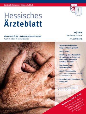 Vollständige Ausgabe November 2012 - Landesärztekammer Hessen