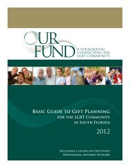 Our Fund's Gift Planning Guide for the LGBT Community