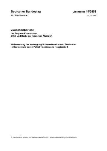 Deutscher Bundestag Zwischenbericht