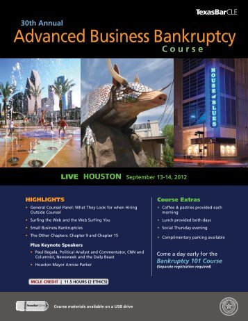 Advanced Business Bankruptcy - Western District of Texas