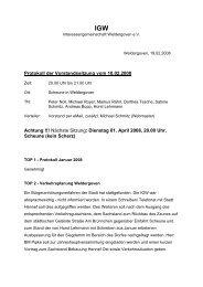 Protokoll der Vorstandssitzung vom 18.02.2008 ... - Weldergoven