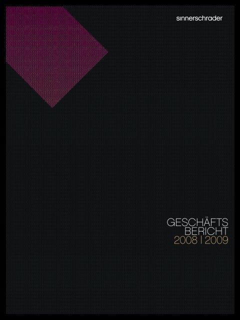 Geschäftsbericht 2008/2009 komplett - SinnerSchrader AG