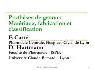 Etude des matériaux et nomenclature des prothèses de genou - ADIPh