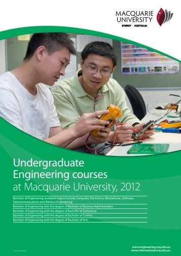 Undergraduate Engineering courses at ... - KOM Consultants