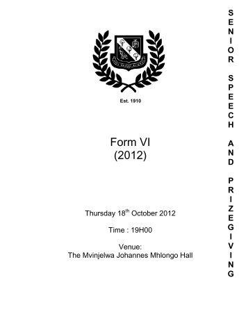 Prizegiving Programme 2012 (2).pdf - Glenwood High School