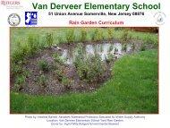 Van Derveer Rain Garden Curriculum - RCE of Somerset County