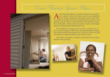 Our Three Year Plan - Catholic Charities Archdiocese of New Orleans
