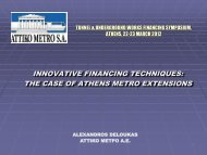 Innovative financing techniques: The case of Athens metro extensions