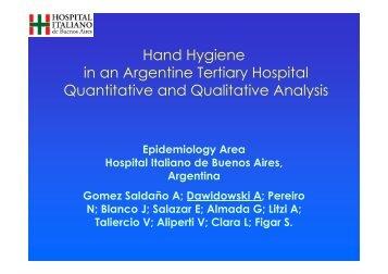 Hand Hygiene in an Argentine Tertiary Hospital ... - Epi2008