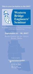 September 24 – 26, 2007 - Western Bridge Engineers' Seminar