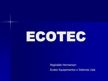 Palestra Reginaldo Hermanson - Ecotec
