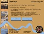 2008 Budget - Hamilton County, Ohio