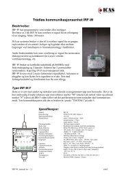 Trådløs kommunikasjonsenhet IRF-W - Icas