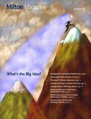 MiltonMagazine - Milton Academy