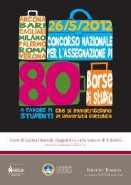 057415-BANDO BORSE_A4_2012_v2.indd - Istituto Toniolo